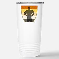 Bear Pride Colors Muscle Bear Shield Travel Mug