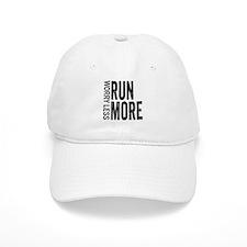 Worry Less, Run More Baseball Baseball Cap