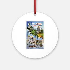 Idaho Greetings Ornament (Round)