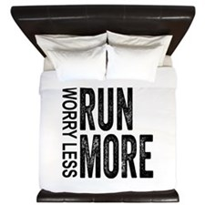 Worry Less, Run More King Duvet