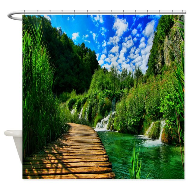 nature walk shower curtain by coolbedding
