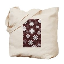 Melted Chocolate and Milk Flowers Pattern Tote Bag
