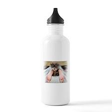 Yorkie Between Feet Water Bottle