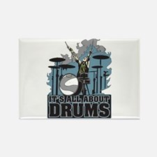 Its All About Drums Rectangle Magnet
