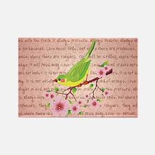 BIRDS & BLOSSOMS Rectangle Magnet