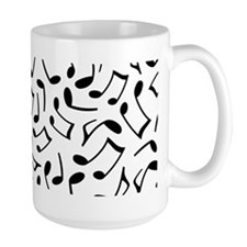 Music Notes White and Black Mugs