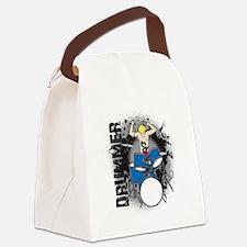 Grunge Drummer Canvas Lunch Bag