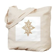 Gold Easter Star Emblem Tote Bag
