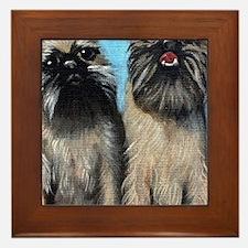 Brussells Griffon Puppies Framed Tile