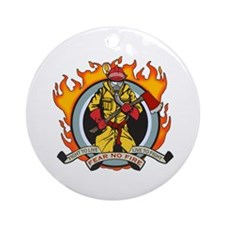 Firefighter Fear No Fire Ornament (Round)