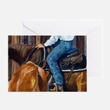 Quarter Horse Cutting Horse Greeting Cards