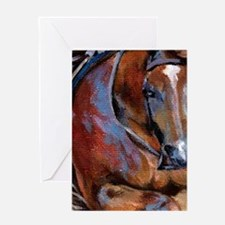 Cutting Quarter Horse Portrait Greeting Cards