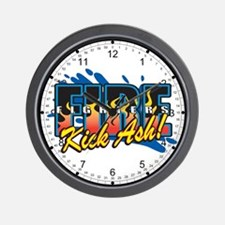 Firefighters Kick Ash! Wall Clock