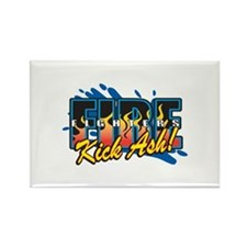 Firefighters Kick Ash! Rectangle Magnet (100 pack)