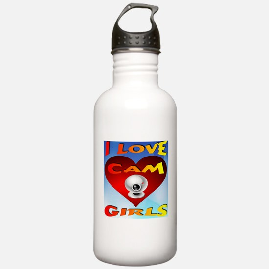 I Love Cam Girls Water Bottle
