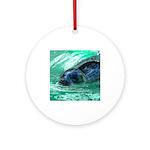Swimming Seal Ornament (Round)