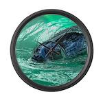 Swimming Seal Large Wall Clock