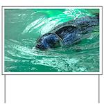 Swimming Seal Yard Sign