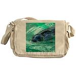 Swimming Seal Messenger Bag