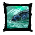 Swimming Seal Throw Pillow