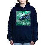 Swimming Seal Women's Hooded Sweatshirt