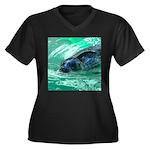 Swimming Seal Plus Size T-Shirt