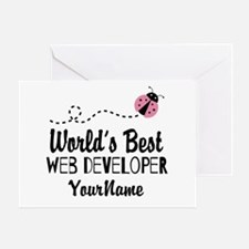World's Best Web Developer Greeting Card