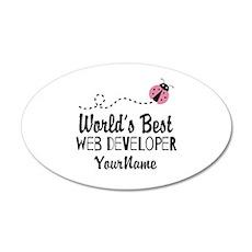World's Best Web Developer Wall Decal