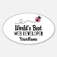 World's Best Web Developer Sticker (Oval)