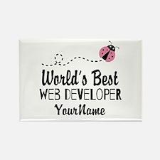World's Best Web Developer Rectangle Magnet