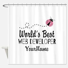 World's Best Web Developer Shower Curtain