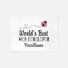 World's Best Web Developer 5'x7'Area Rug