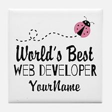 World's Best Web Developer Tile Coaster