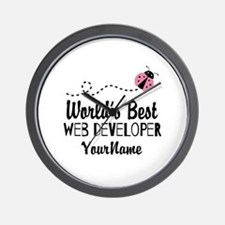World's Best Web Developer Wall Clock