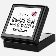 World's Best Web Developer Keepsake Box
