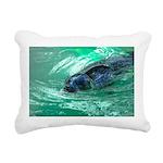 Swimming Seal Rectangular Canvas Pillow