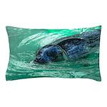 Swimming Seal Pillow Case