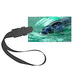 Swimming Seal Luggage Tag