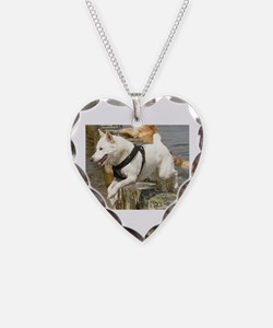 Canaan_Dog in water Necklace