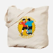 Love For Hockey Starts Early Tote Bag