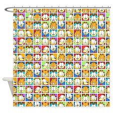 Garfield Face Time Shower Curtain