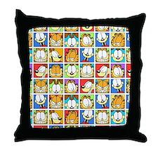 Garfield Face Time Throw Pillow