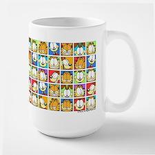 Garfield Face Time Large Mug
