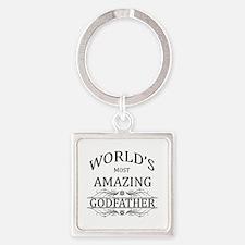 World's Most Amazing Godfather Square Keychain