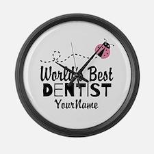 World's Best Dentist Large Wall Clock