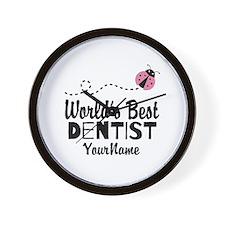 World's Best Dentist Wall Clock