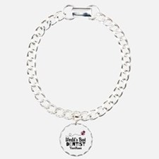 World's Best Dentist Charm Bracelet, One Charm