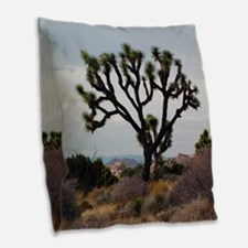 Joshua Tree Burlap Throw Pillow