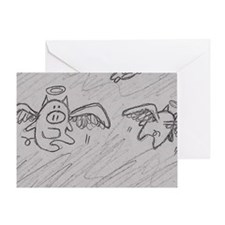 Flying Pigs Greeting Cards