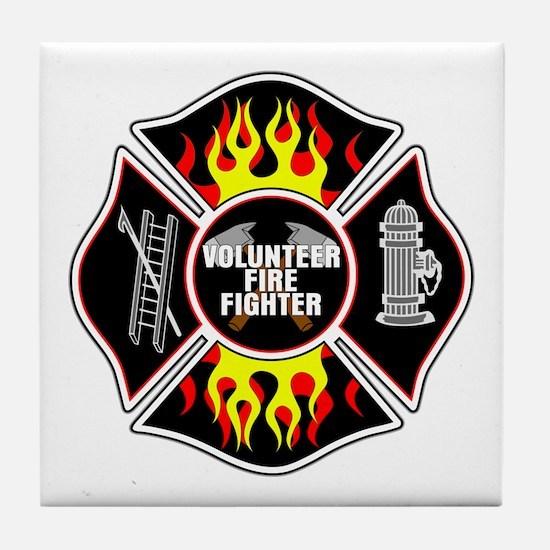 Volunteer Firefighter Tile Coaster